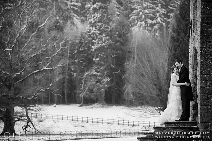 Llangoed Hall Wedding in the Snow