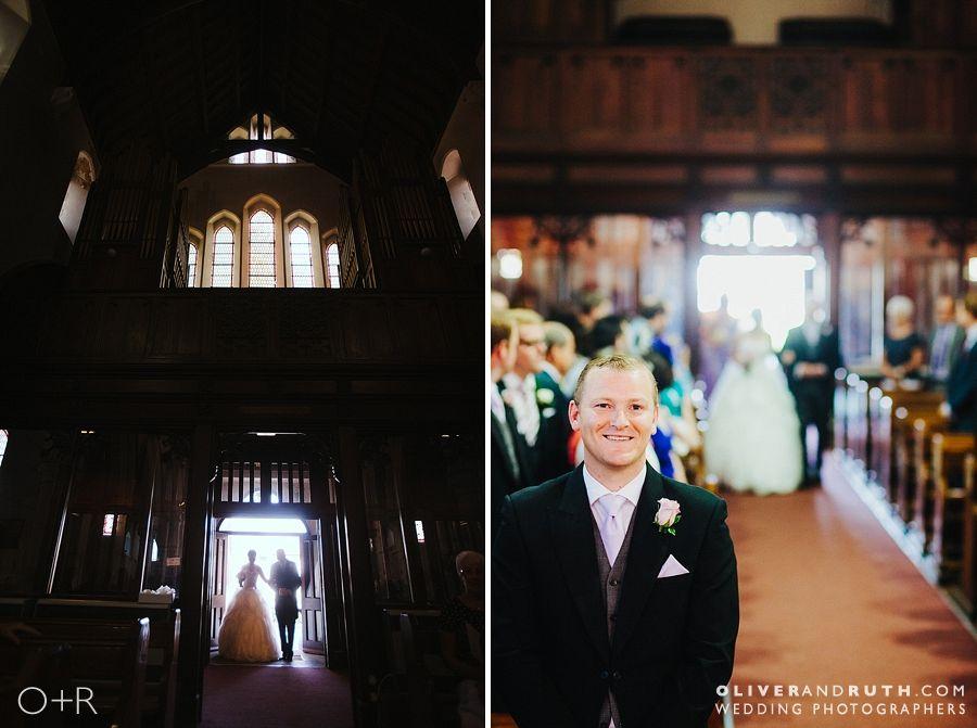 Bride's entrance at St Marys church, Merthyr Tydfil