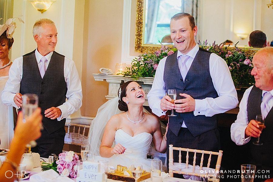 Wedding speeches at Llansantffraed Court