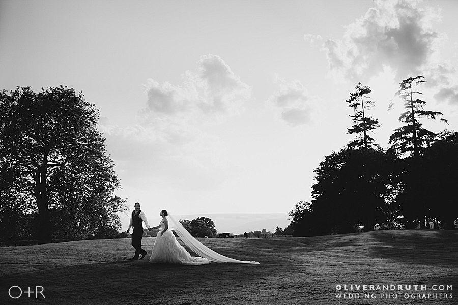 Wedding photograph at Llansantffraed Court