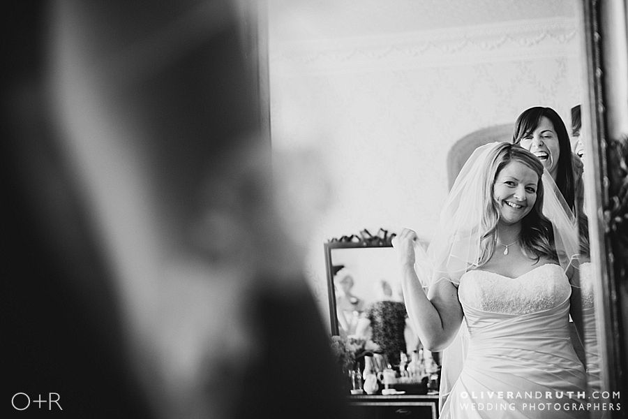 Bride's preparations at The New House Country Hotel, Cardiff