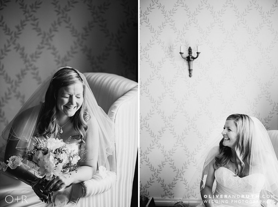 Bride's portrait at The New House Country Hotel, Cardiff