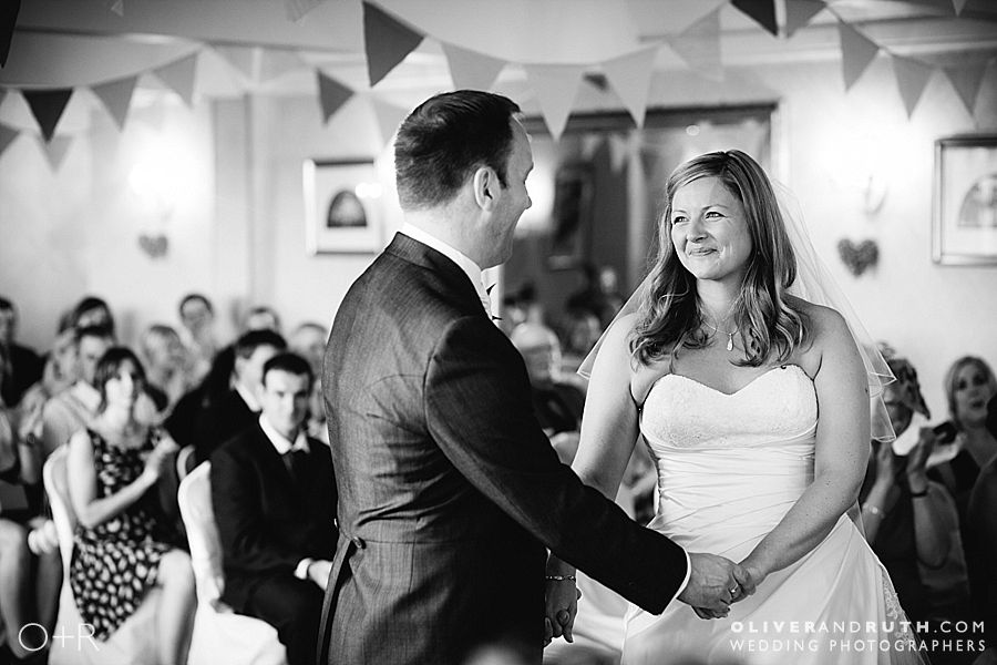Wedding ceremony at The New House Country Hotel, Cardiff