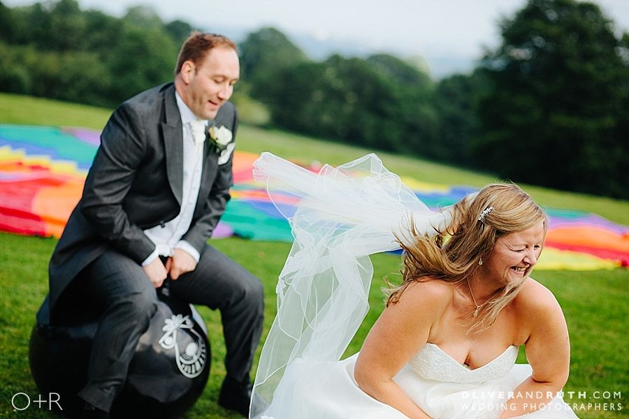 Garden games at The New House Country Hotel wedding