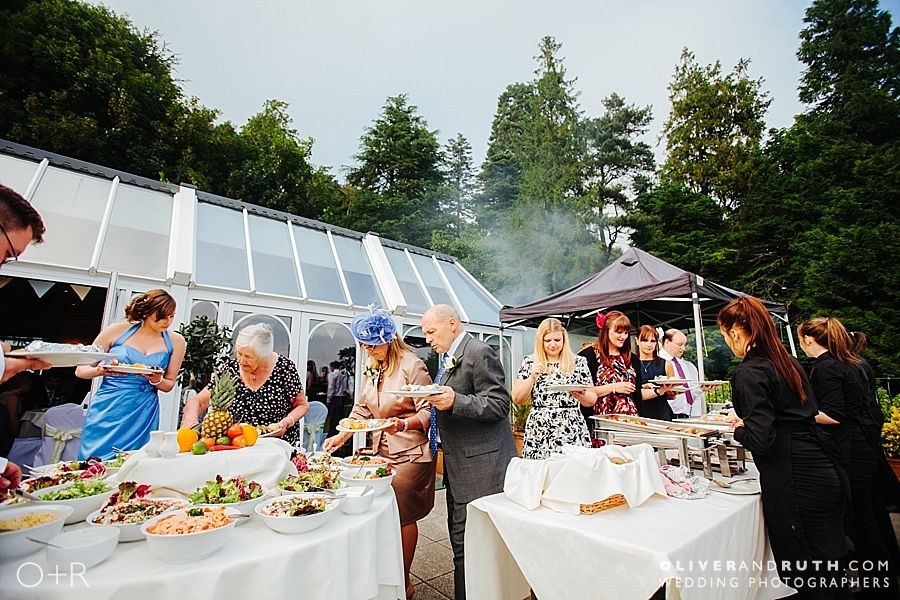 Barbecue at The New House Country Hotel wedding