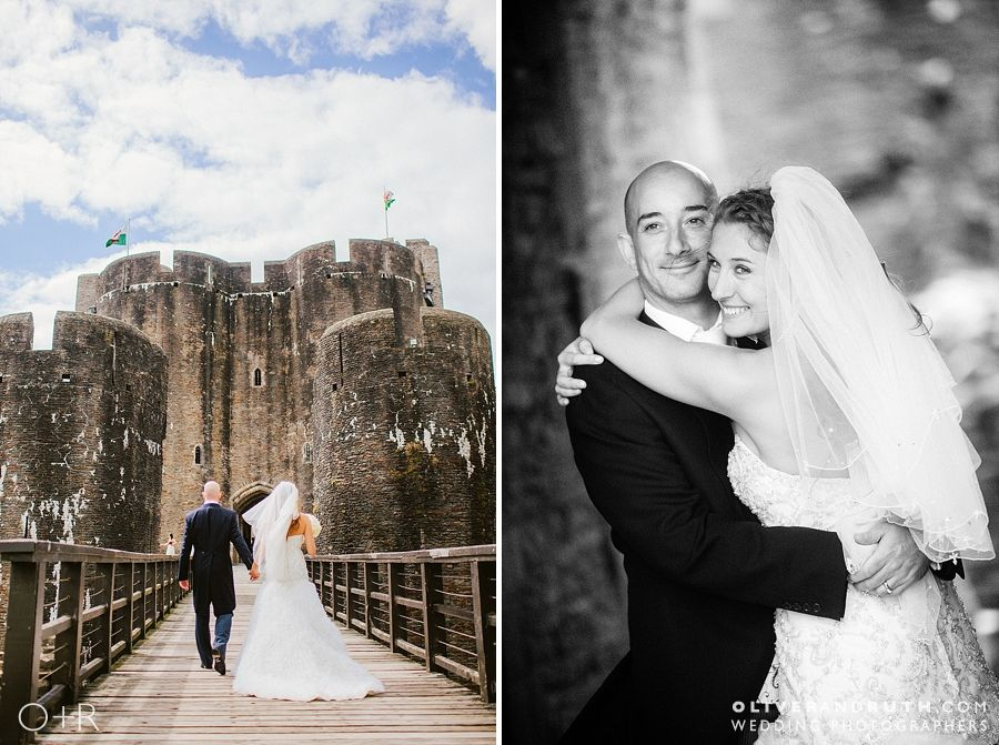 Wedding Photos at Caerphilly Castle