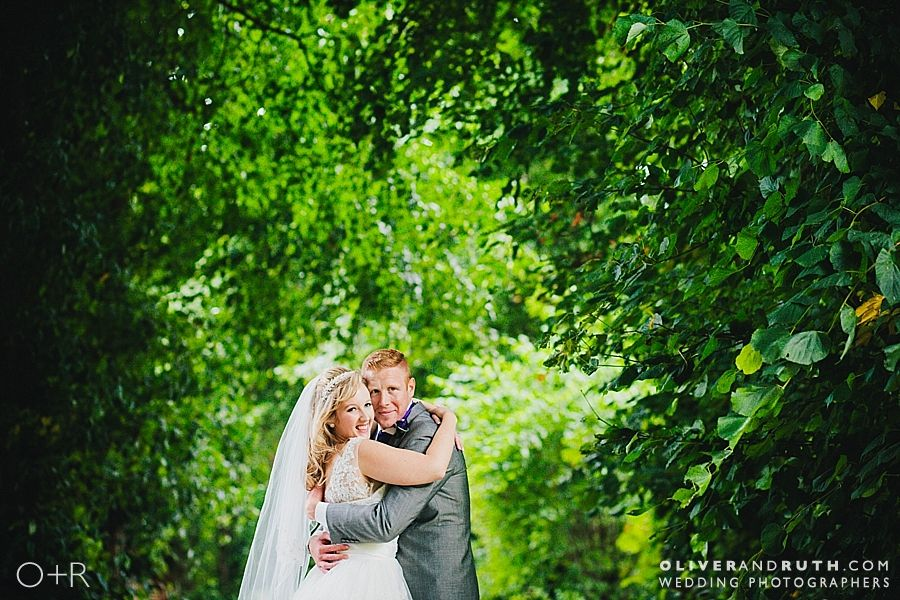 Bride and groom photo at The Manor Hotel