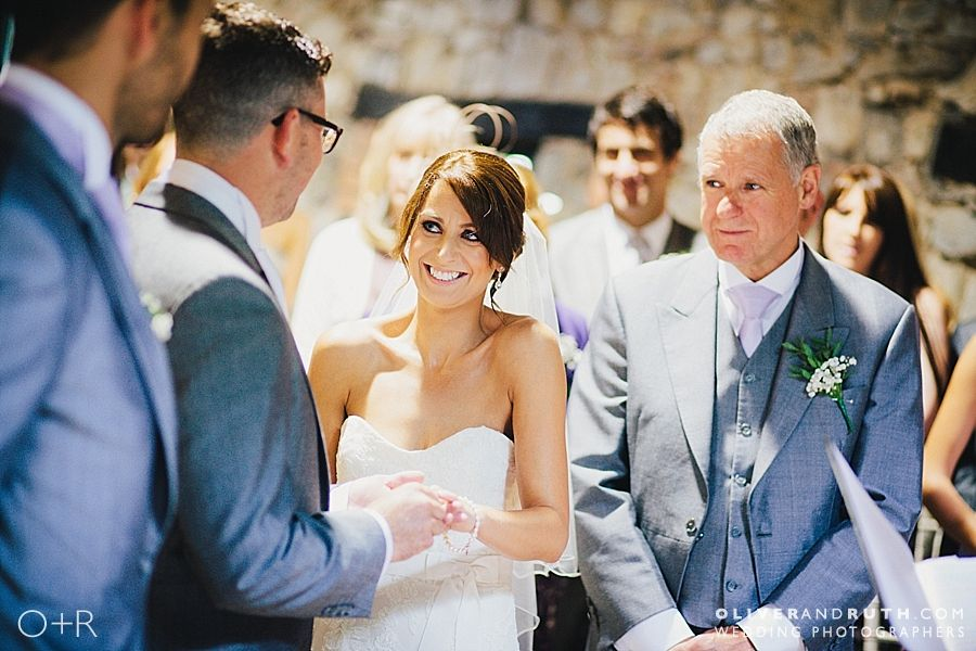 Wedding ceremony at Pencoed House
