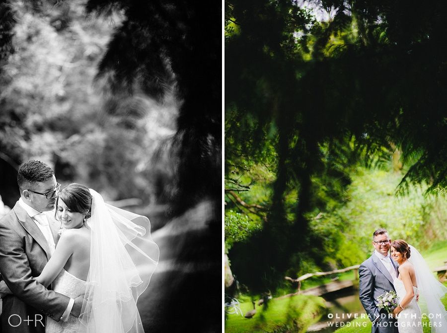 Bride and groom at Pencoed House