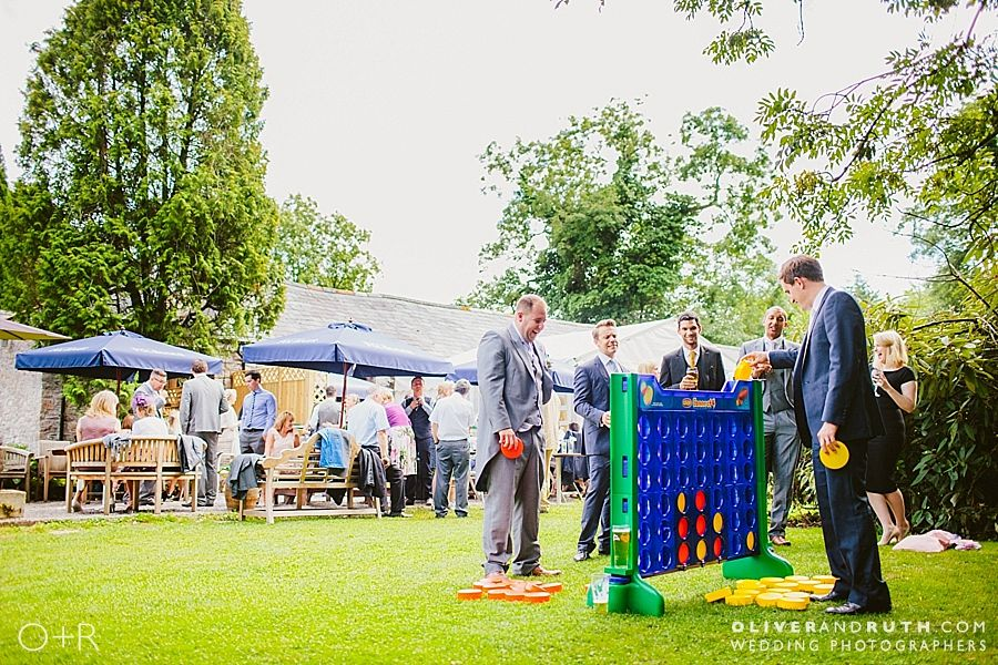 Garden games at Pencoed House wedding