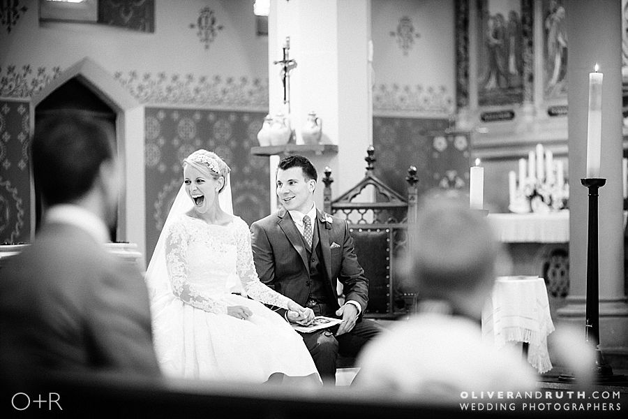 St Peters church wedding photograph