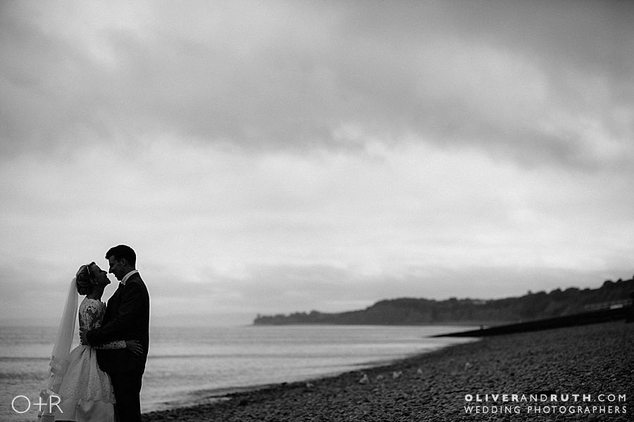 Penarth pier wedding silhouette