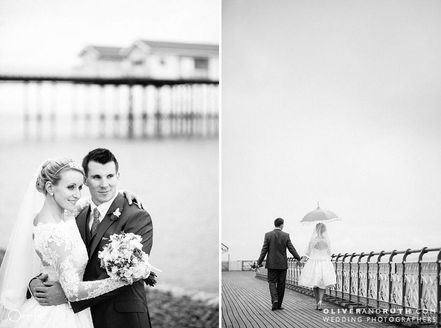 Penarth pier wedding photo