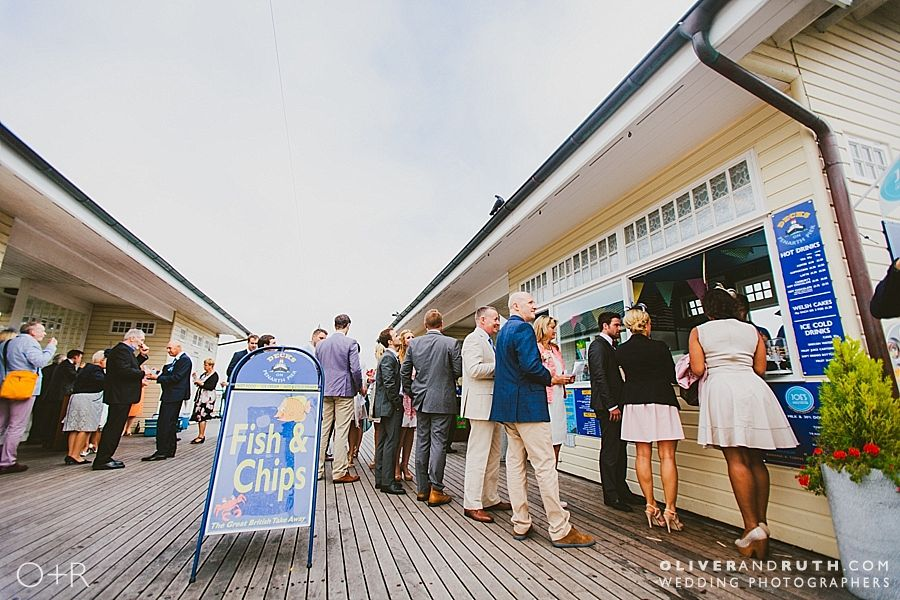 Wedding reception on Penarth pier