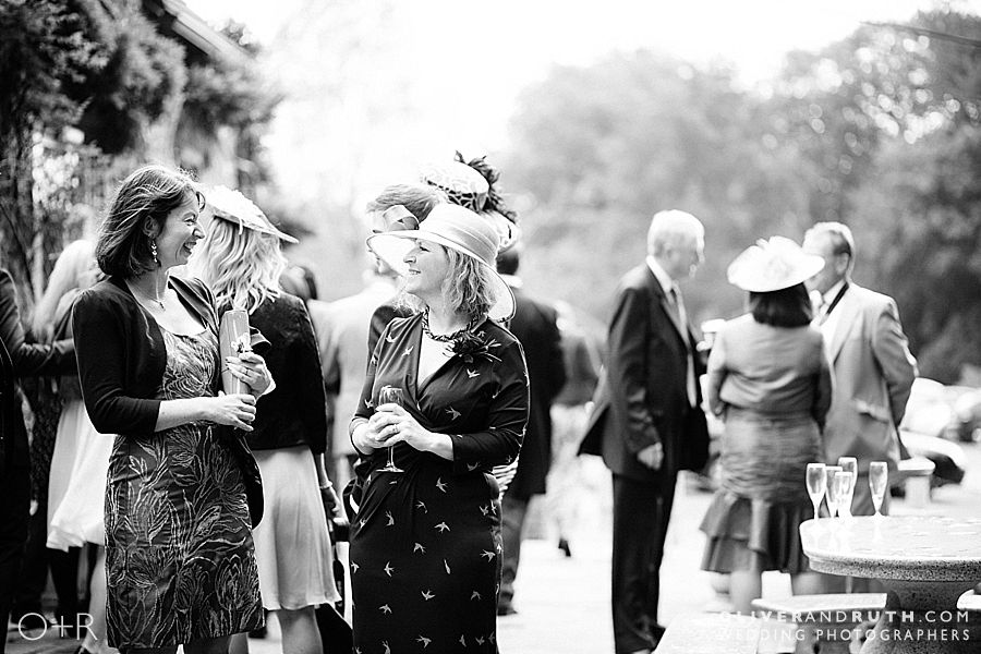 Wedding guests at Miskin Manor