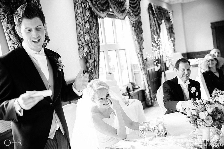 Wedding speeches at Miskin Manor