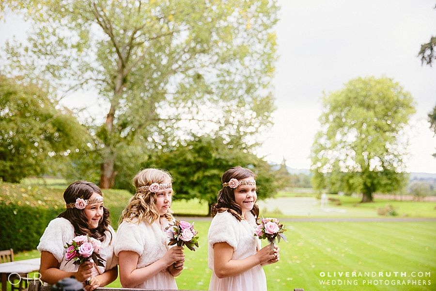Flower girls at Llansantffraed Court