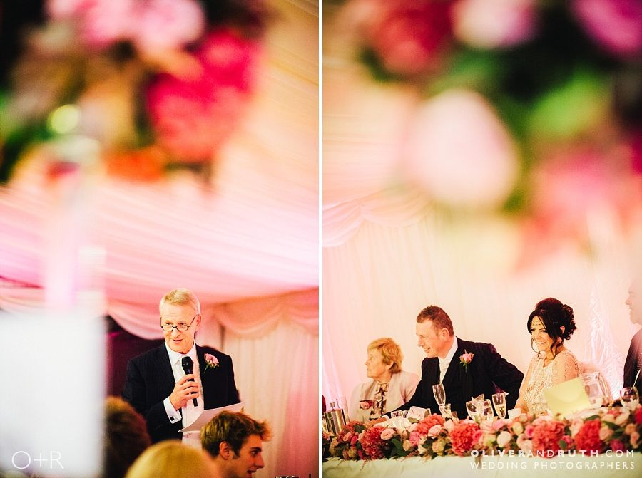 Wedding speeches at Llansantffraed Court