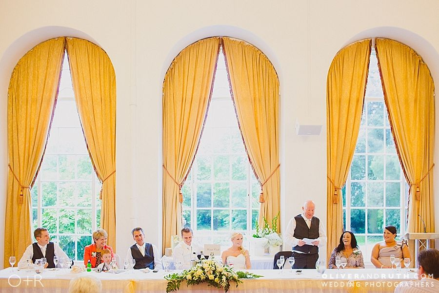 Speeches at Margam Orangery wedding