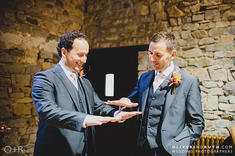 Groom and best man at Pencoed House