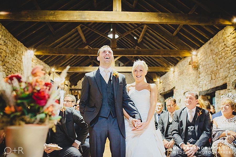 Wedding ceremony photo at Pencoed House
