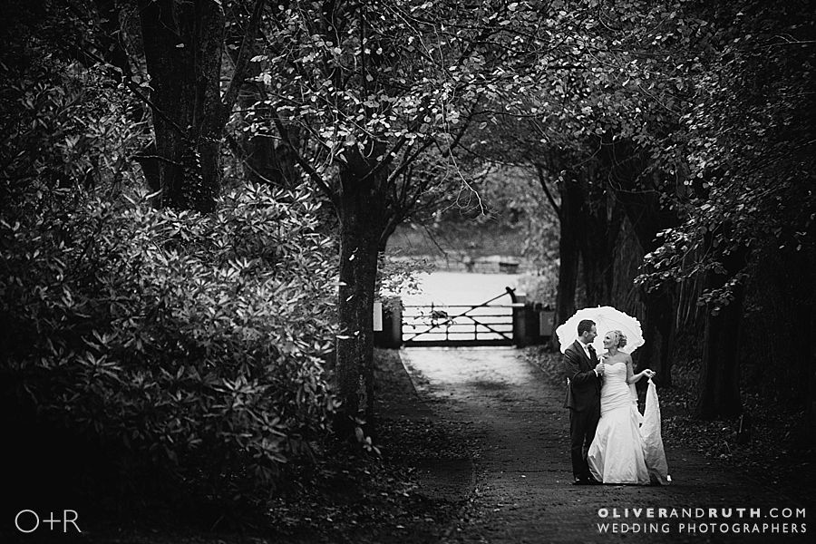 Rainy wedding at Pencoed House