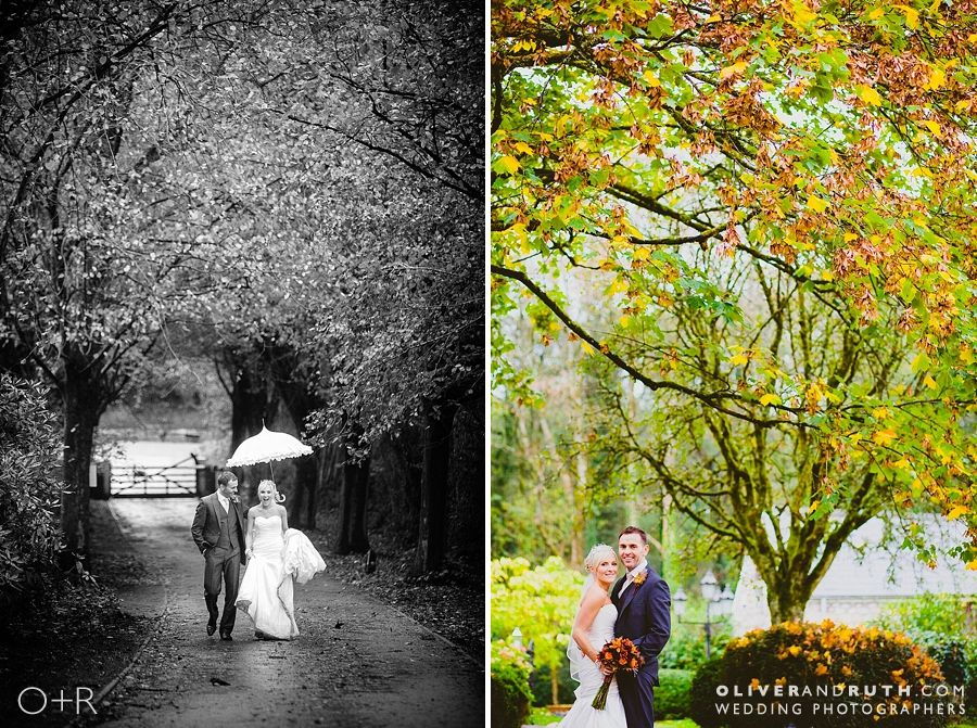 Autumn colours at wedding at Pencoed House