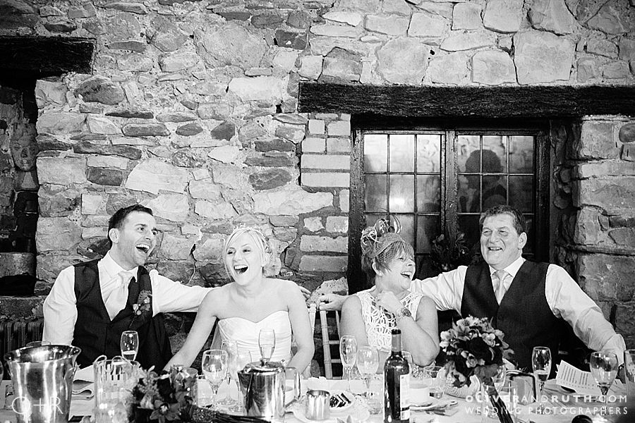 Top table at Pencoed House wedding