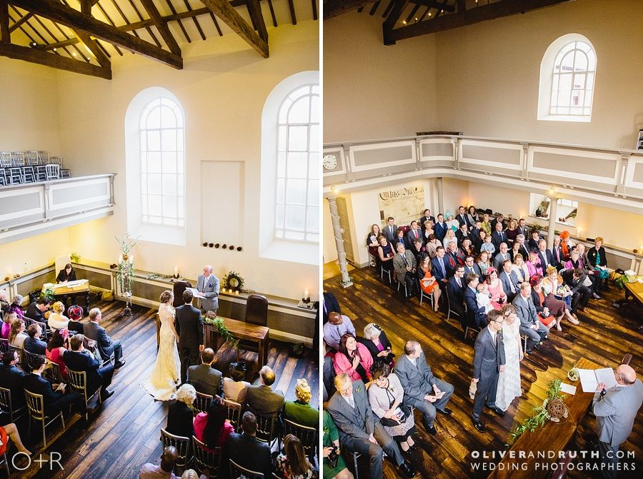 The Cawdor wedding ceremony from above