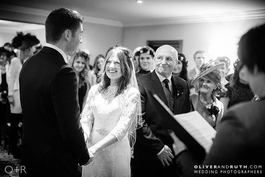 Wedding ceremony at The Grove