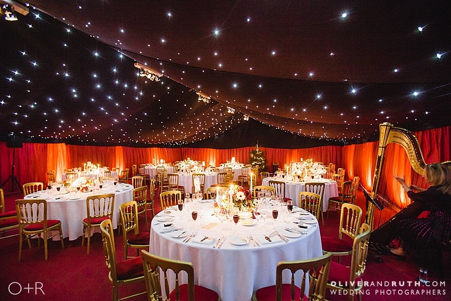 Christmas wedding marquee at The Grove