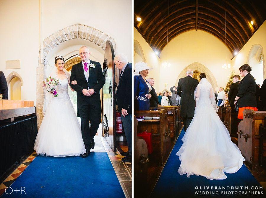 Bride's entrance at Coity church