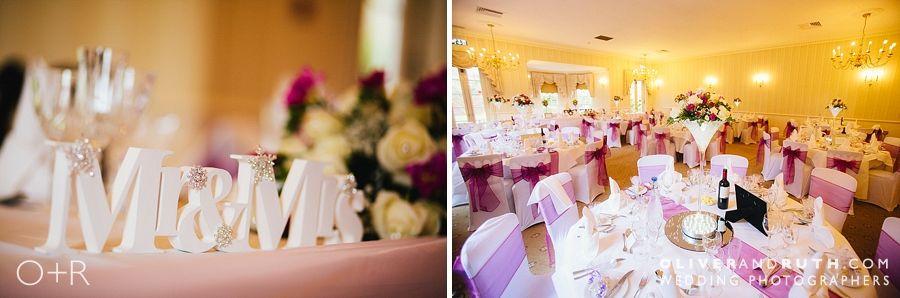 De Courcey's Manor wedding room