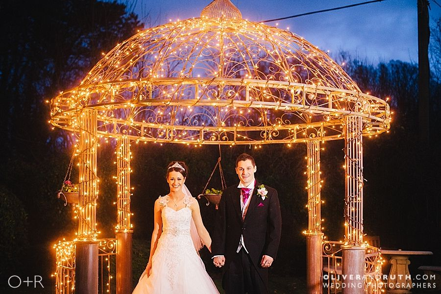 Fairy lights at wedding in De Courcey's Manor