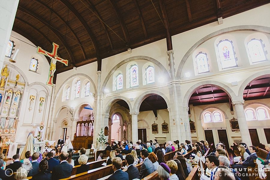 Wedding ceremony at St Marys Church, Canton, Cardiff