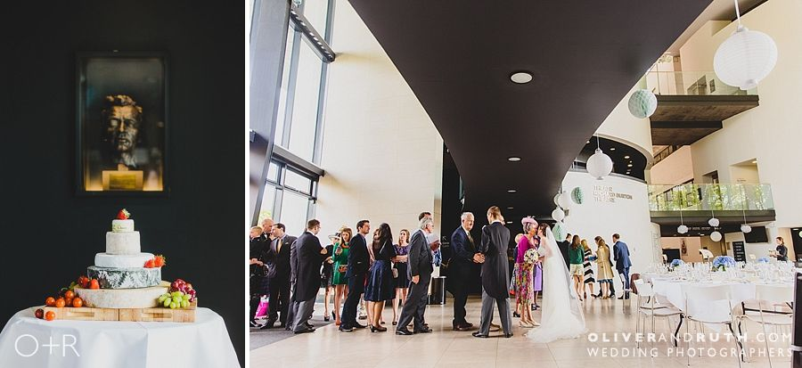 Wedding receiving line at The Royal Welsh College of Music and Drama
