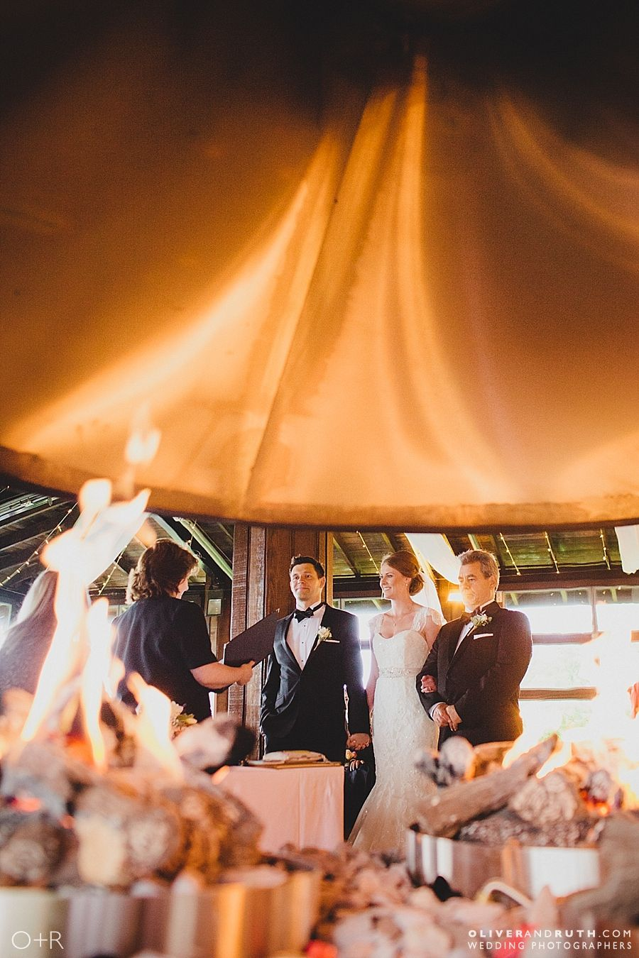 Wedding ceremony at the Celtic Manor rooftop terrace