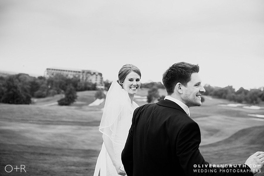Bride and groom at a Celtic Manor wedding