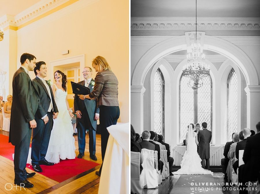 Clearwell Castle wedding ceremony