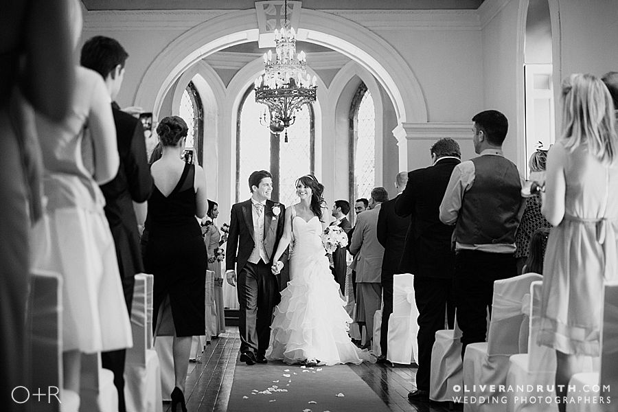Clearwell Castle wedding recessional