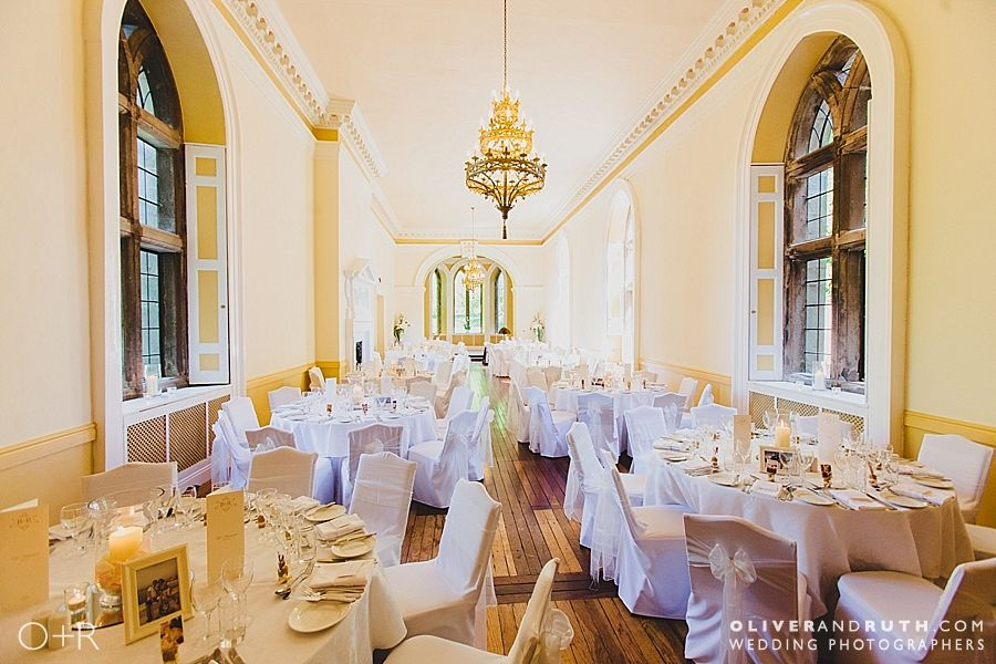 Wedding room tables layout at Clearwell Castle