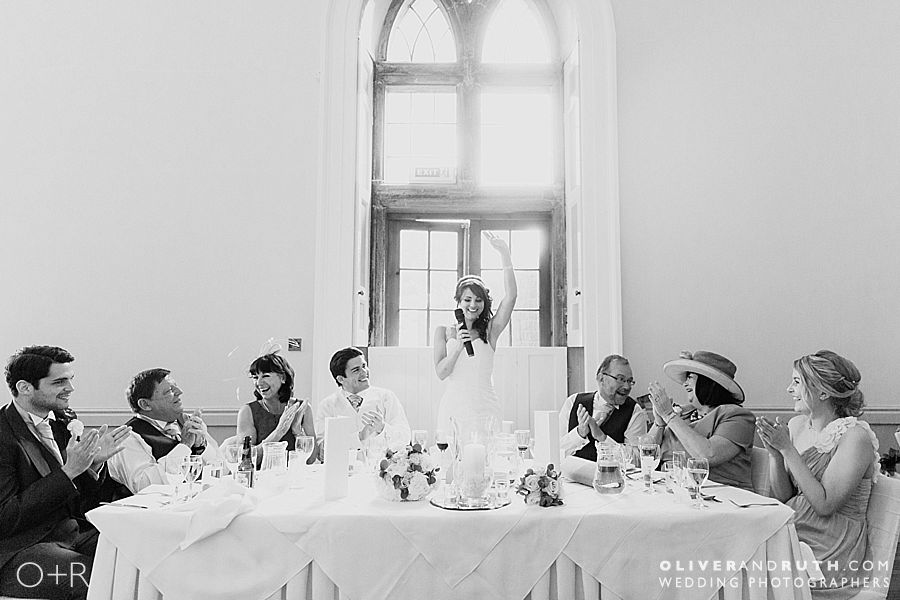 Bride's speech at Clearwell Castle