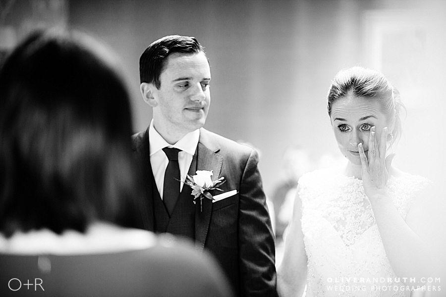 Emotional bride at Fairy Hill wedding