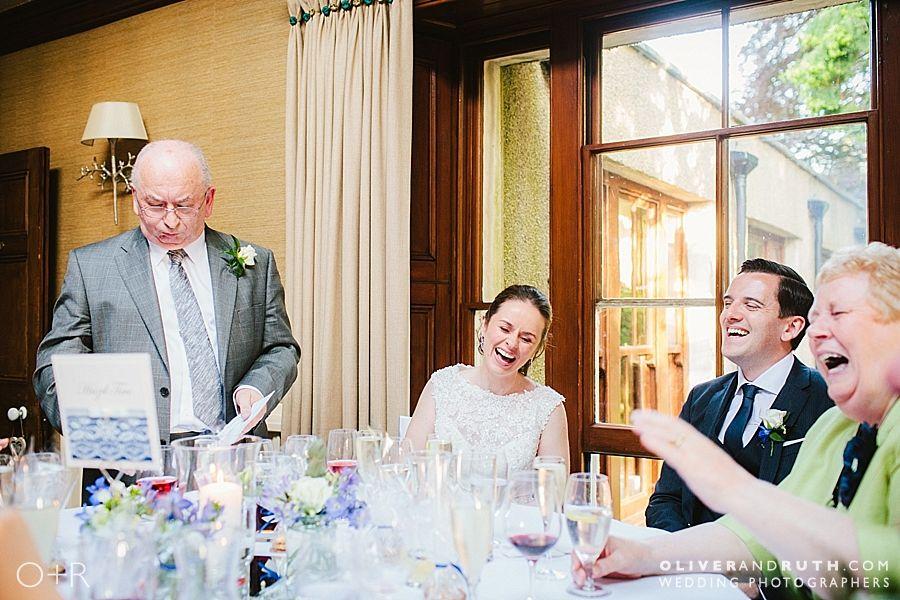 Dad's speech at Fairy Hill wedding