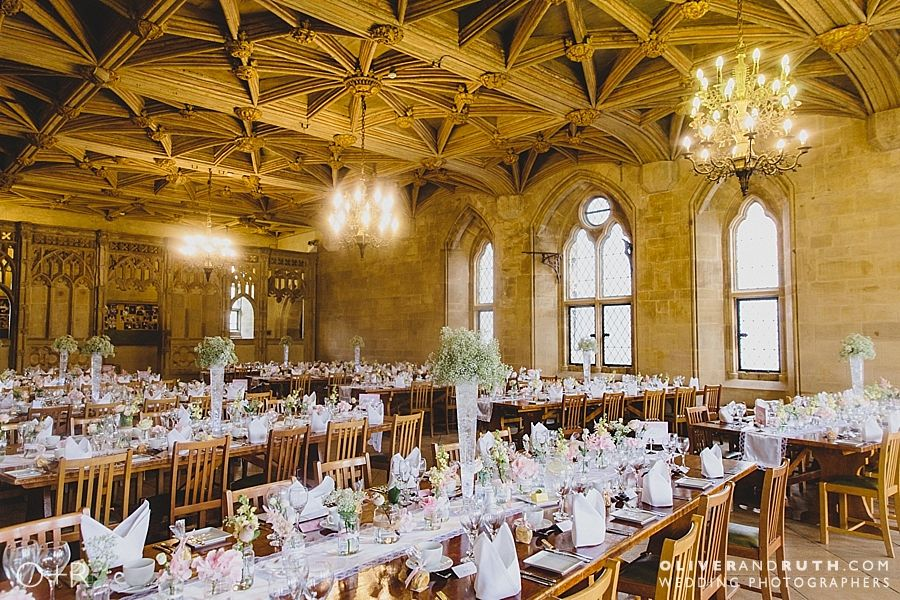 St Donats Castle wedding breakfast room