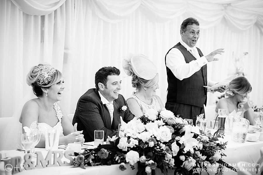 Wedding speeches at The New House Country Hotel, Cardiff