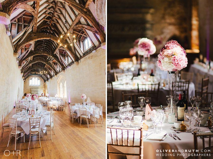 St Donats castle wedding ceremony decoration
