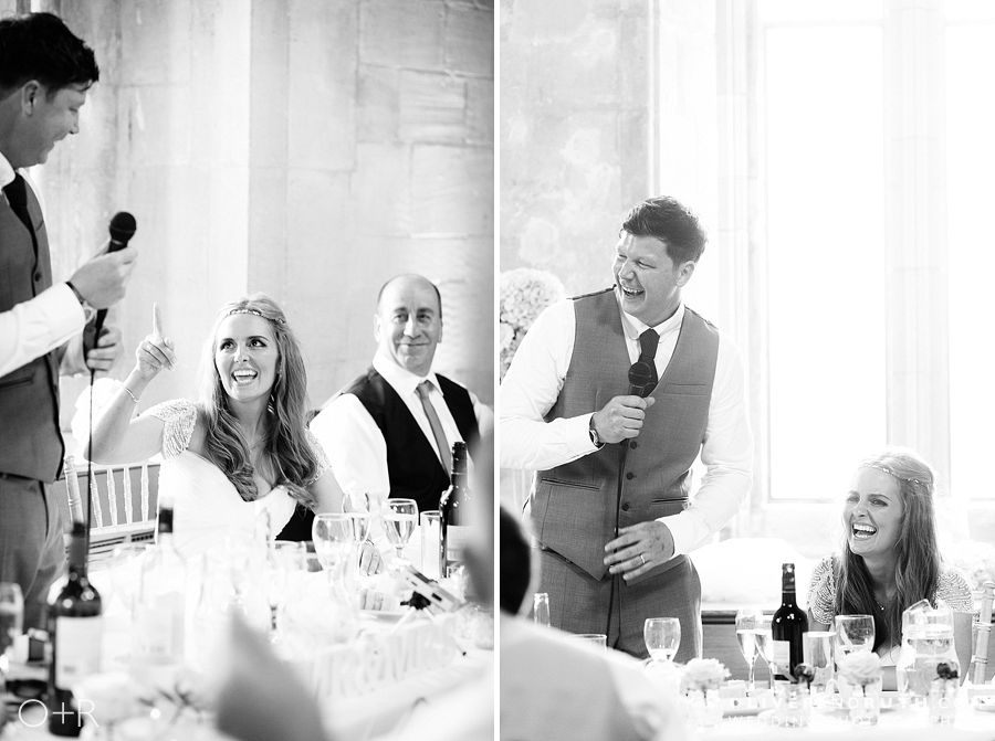 St Donats castle wedding speeches