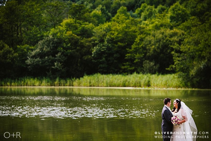 Hensol Castle Lake wedding photograph