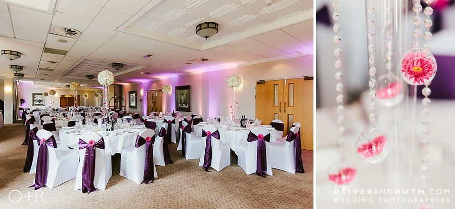 The Vale Hotel wedding room layout